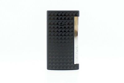 S.t. Dupont Accendino Lighter Feuerzeug Jet Flame Slim 7 Nero Pdf 027714 France