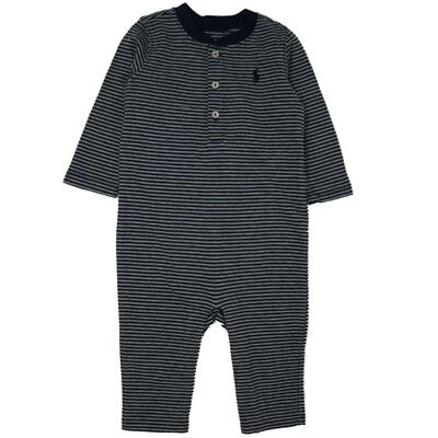 Genuine Ralph Lauren Polo Pony baby boys romper babygrow outfit 3,6,9 m save 60%