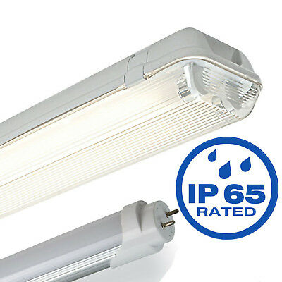 Fluorescent light LED Tube Non Corrosive Waterproof Batten Fittings IP65 T8