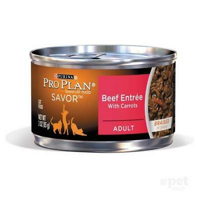NEW Pro Plan Adult Beef Entree with Carrots Cat Food 85gm