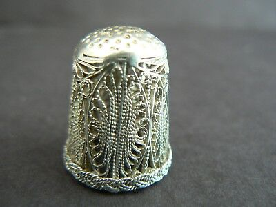 Early Silver Filigree Thimble