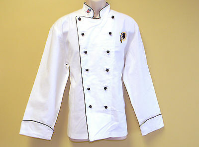 New Nfl Washington Redskins Premium Chef Coat 100% Cotton Xl Size Football Chief