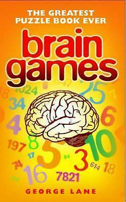 Brain Games: The Greatest Puzzle Book Ever by George Lane (Paperback) Book