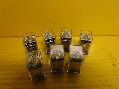 LOT OF 7 OMRON RELAY MY4N 24Vdc 5A A AMP 14 PINS