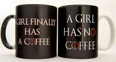 Magic Mug Changing Color Cup Girl Finally Has A Coffee And A Girl Has No Coffee
