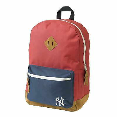 Official New York Yankees Ny Red And Navy School Backpack Rucksack Bag