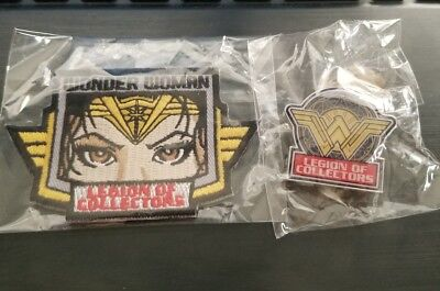 Legion of Collectors- Wonder Woman Patch and Pin- Bundle!