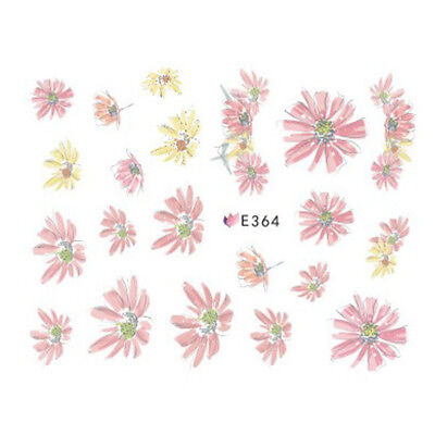 Nail Art Water Decals Stickers Transfers Water Effect Flowers Daisies (E364)
