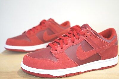 Nike Dunk Low Mens Skate Shoes Trainers Size UK 6.5 Gym Red (NBZ)