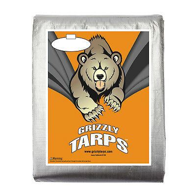 B-Air Grizzly 10 Mil Heavy Duty Water/UV-proof Silver Tarp Canopy Car Boat Cover