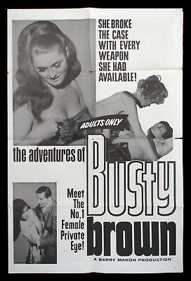 Adventures of Busty Brown 1964 orig sheet sexploitation