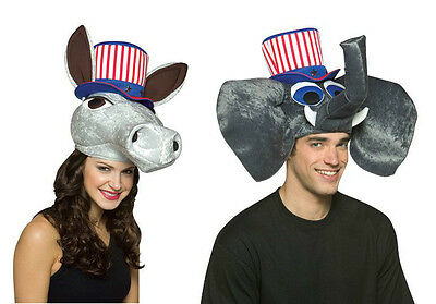 Elephant or Donkey USA Politics Hats Democrat Republican Hat Election Adult NEW