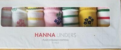 NWT Hanna Andersson 7 Pack CLASSIC Organic Unders FLORAL STRIPE M 120 130 6 7 8