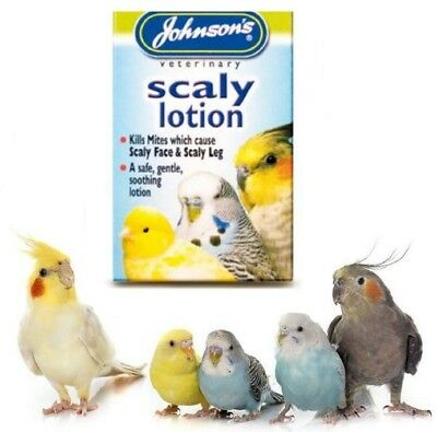 Johnson's Caged Bird Scaly Mite Lotion Scaly Leg Face Soothing Treatment 15ml