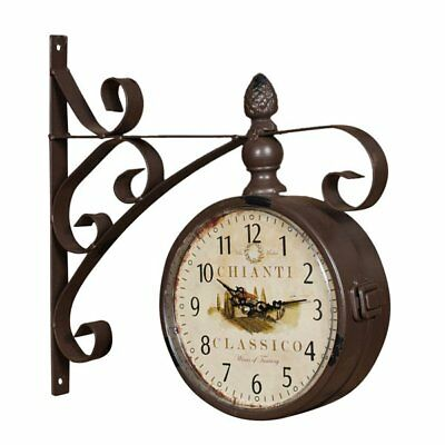 W31XDPXH31 cm sized wrought iron made  antiqued dark brown finish station-model