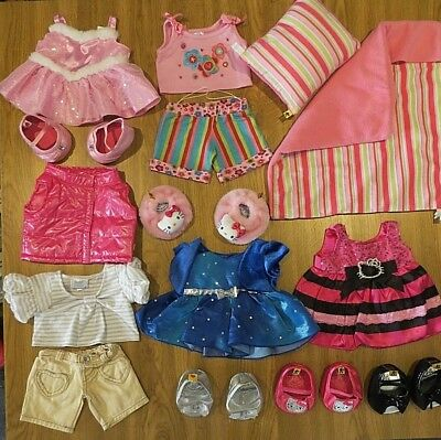 BUILD A BEAR clothes outfit bedding hello kitty shoes prom dress ...