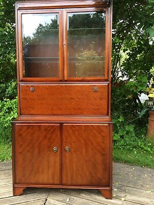 mid century cocktail drinks cabinet turnidge of london see matching book case