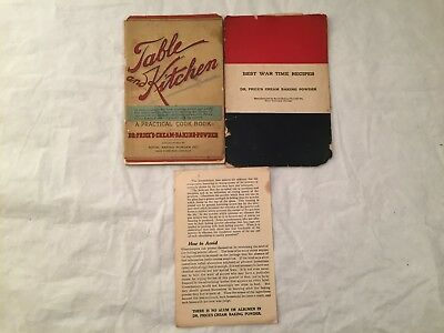 Dr.Price's Cream Baking Powder Lot Best War Time Recipes & Table And Kitchen