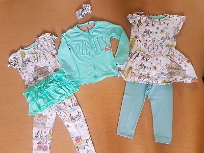 Girls Designer Oilily dress leggings jacket set Age 6