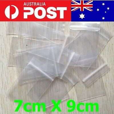 5-200pc AU 7X9cm Small Zip Lock Plastic Bags Reclosable Resealable Zipper Thick