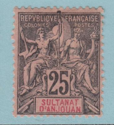 French Colonies Anjouan 10 Mint Hinged Og * No Faults Extra Fine !