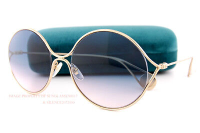 69f5373c49 GUCCI GG0253S 003 Sunglasses Gold Frame Blue Rose Gradient Lenses ...