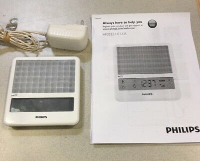 Philips GoLite Blu HF3332 Energy For Light Therapy w power cord + manual
