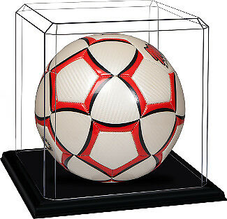 Soccer Ball - Deluxe Acrylic Display Case with Black Base - USA MADE