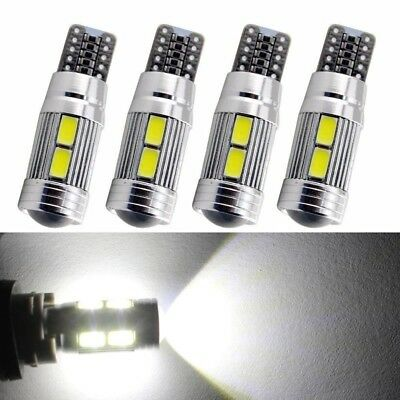 4 x T10 White 5630 LED 194 W5W 10SMD Canbus Error Free Car Side Wedge Light Bulb