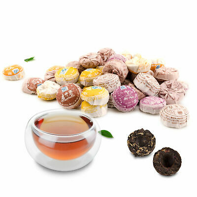 Lots of Mini Cooked Ripe Yunnan Puerh Tuo Cha Health Weight Loss Tea -5 Flavours