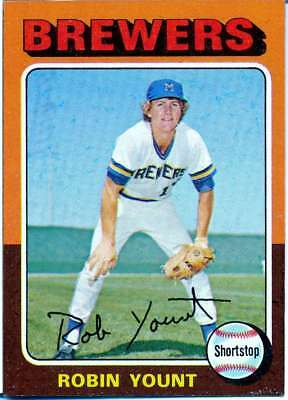 1975 Topps Robin Yount #223 Ex-Mt Milwaukee Brewers Rc Rookie Hof V6590