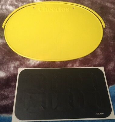 Cheerios Cereal Collectible Plastic Numbered Bike Plate Bicycle Listened Plate