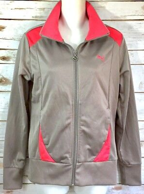 1db513271e8f8 PUMA VINTAGE GRAY Athletic/Track Active Zip-up Jacket (Size Small)