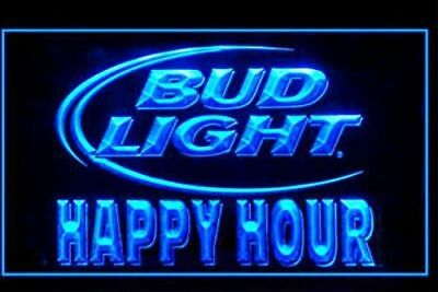Bud Light Beer Happy Hour Drink bar LED Light Sign