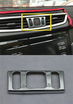 For Nissan Qashqai 2014-2019 Central Air Vent Chrome Cover Middle Console Trim