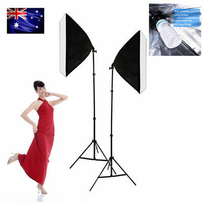 2x135W Photography Studio Softbox Continuous Lighting Photo Soft Light Stand Kit