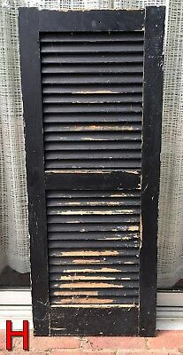 Single 1800's Wood House Shutter Louvered Vintage Painted Old farmhouse 40x16 *H