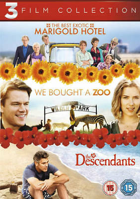 The Best Exotic Marigold Hotel/We Bought a Zoo/The Descendants DVD (2013) Bill