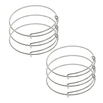 6x Brass Expandable Bracelet Base Adjusted Wire Bangle DIY Jewelry Findings