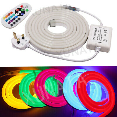 LED STRIP RGB Neon Flex Rope Light Waterproof 220V Flexible Outdoor