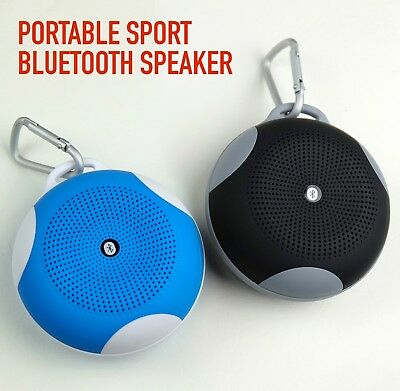 Portable Sport Mini Bluetooth Speaker with hook - HFP & HSP, TF Card slot, FM