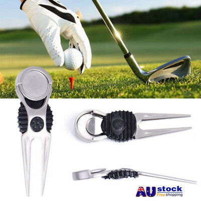 with marker Auto Extended Lightweight Golf pitch fork mark repairer divot tool