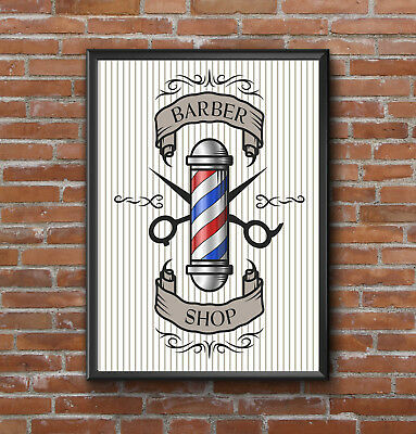 Inspirational Motivational Barber Shop Hairdressers  Quote  Poster Print A4