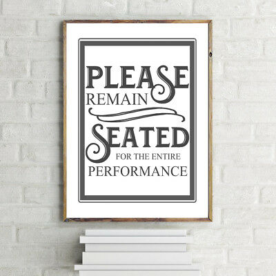 Bathroom Toilet Quote Inspirational Motivational Print A4 Poster 280Gsm Satin
