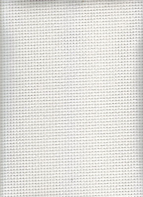 "5 x Pieces of 18 Count Aida  6"" x 4"" EACH White Cross Stitch Fabric"