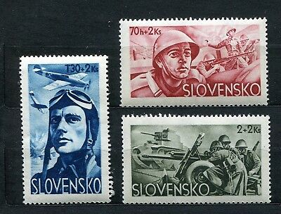 Slovakia Ww2 German Puppet State 1944 Scott B14-B16 Perfect Mnh