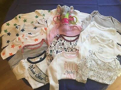 baby girl long sleeve bodysuits m&Spencer's, H&M 0 3 months cotton