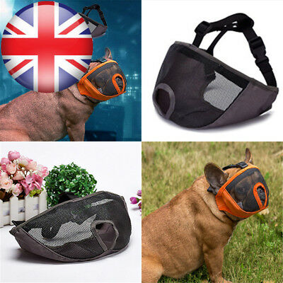 JYHYEU Short Snout Dog Muzzle- Adjustable Breathable Mesh Bulldog Muzzle for...