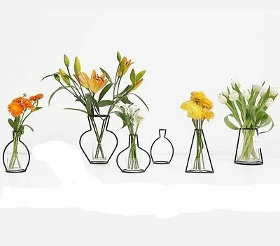 Iron Vases For Plants Table Top Unique Modern Home Garden Room Accessories Decor