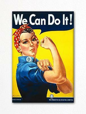 "We Can Do It Famous ""Rosie the Riveter"" Poster Fridge Magnet"